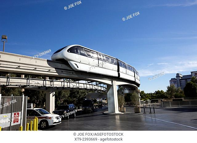 Las Vegas monorail train Nevada USA