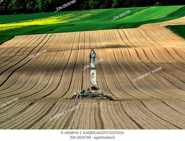 Monument to st Mary in Janikowice field, Poland
