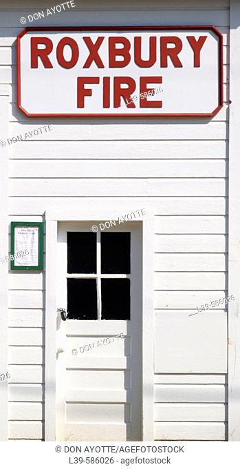 Old firehouse in the small town of Roxbury. Vermont. U.S.A