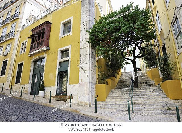Chiado district. Lisbon, Portugal