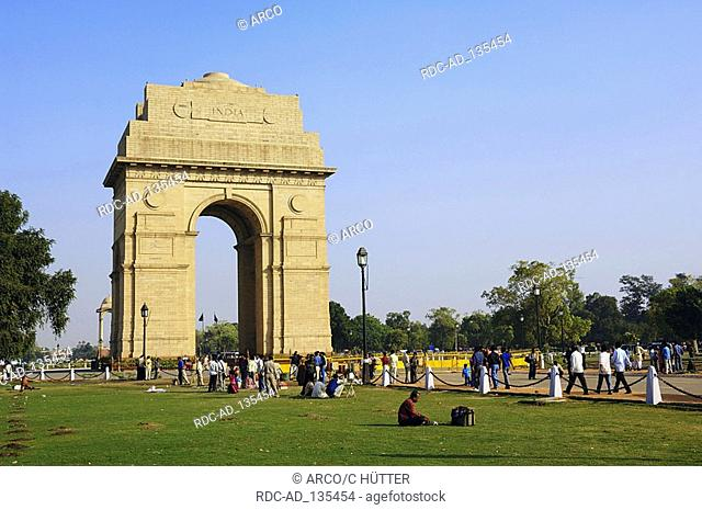 War memorial India Gate New Delhi India New Dehli
