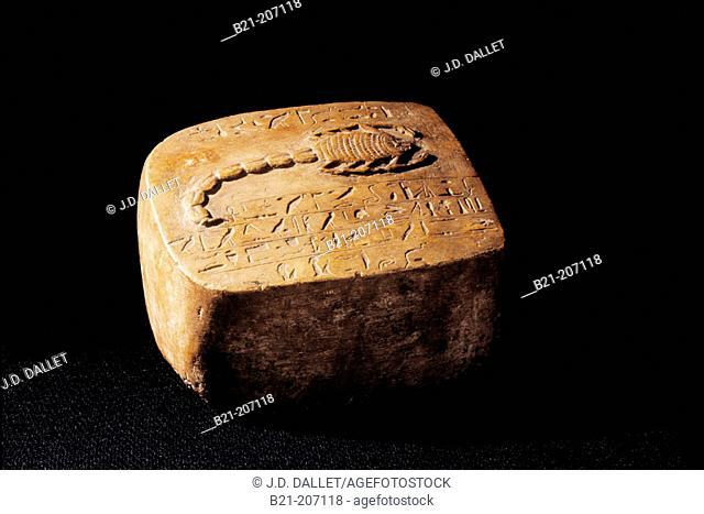 Scorpion stone. Egyptian Museum. Egypt