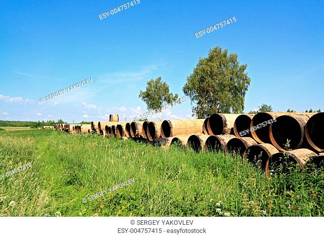 old gas pipes