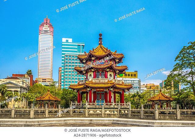 Taiwan, Taipei City, Zhongzeng District, Memorial Park, Pagoda
