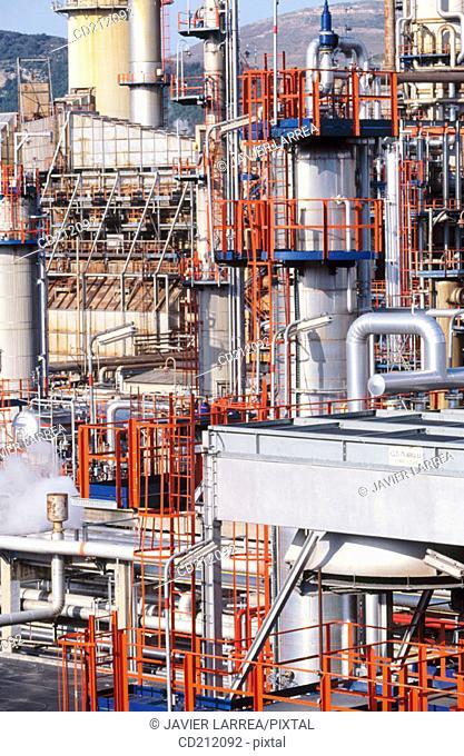 Muskiz oil refinery. Biscay. Spain