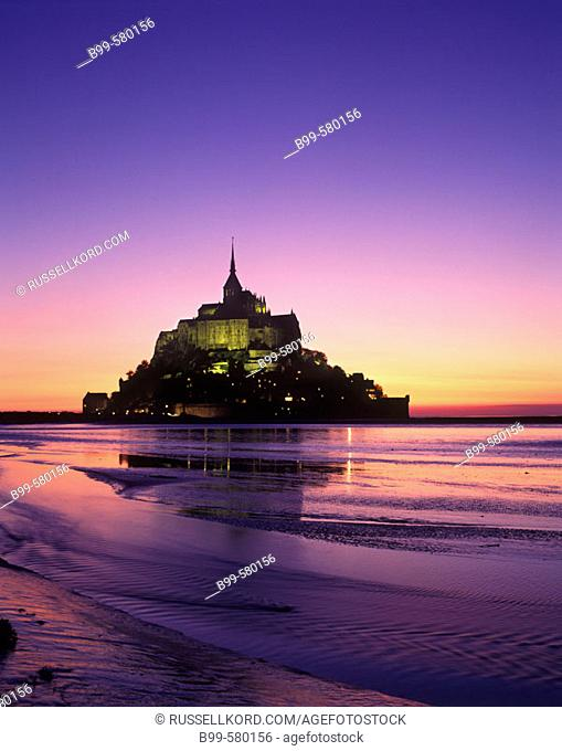 Scenic Mont Saint Michel In May, Normandy, France
