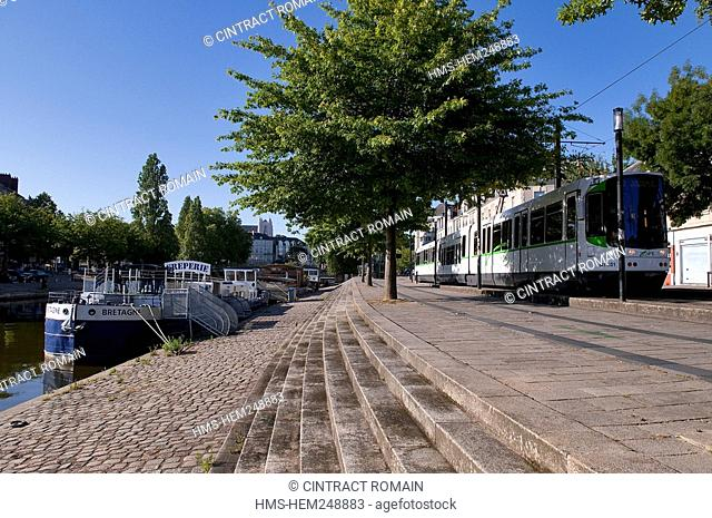 France, Loire Atlantique, Nantes, the district of Erdre, the tramway