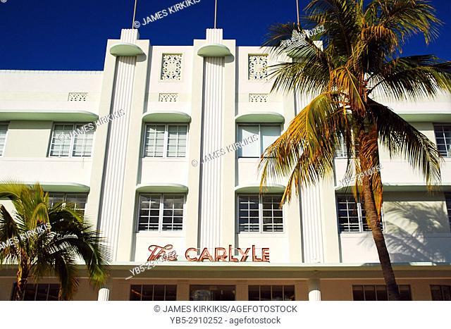The Art Deco Carlyle Hotel in Miami Beach
