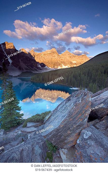 Lake Moraine, Banff National Park, Alberta, Canada