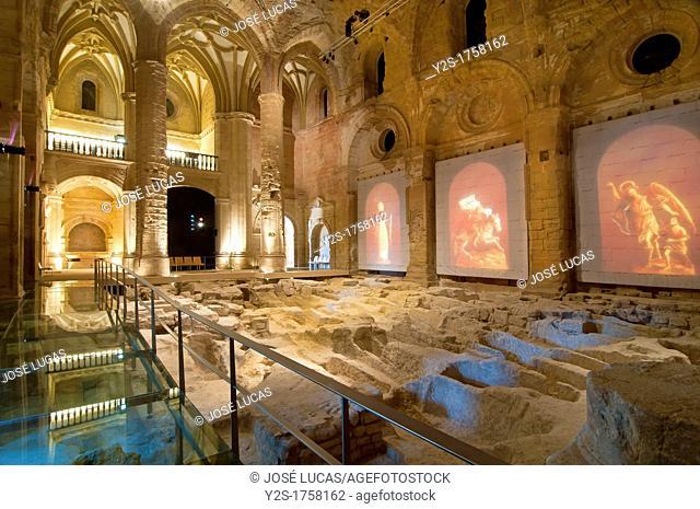 Mayor Abbey Church-interior, La Mota Fortress, Alcala la Real, Jaen-province, Spain