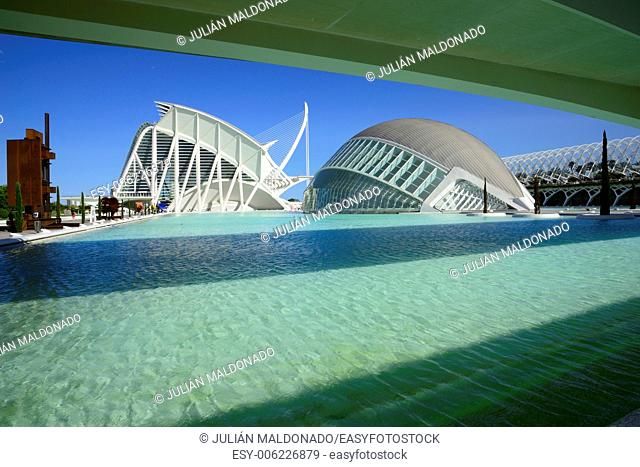 . Hemispheric and Building Science Museum Principe Felipe, City of Arts and Sciences in Valencia, Spain