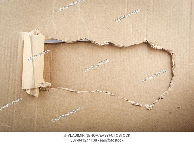 Recycled Cardboard Background Texture