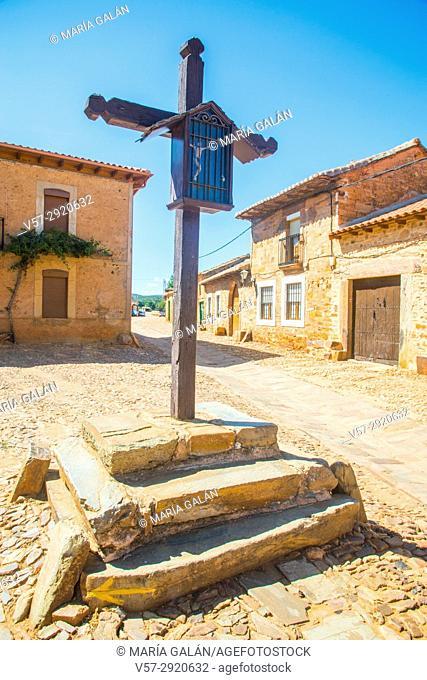 Wooden cross. Castrillo de los Polvazares, Leon province, Castilla Leon, Spain