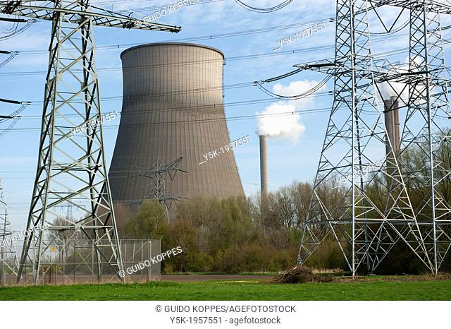 Geertruidenberg, Netherlands. Huge cooling tower of a regional power station or electricity-plant, once build into a rural landscape