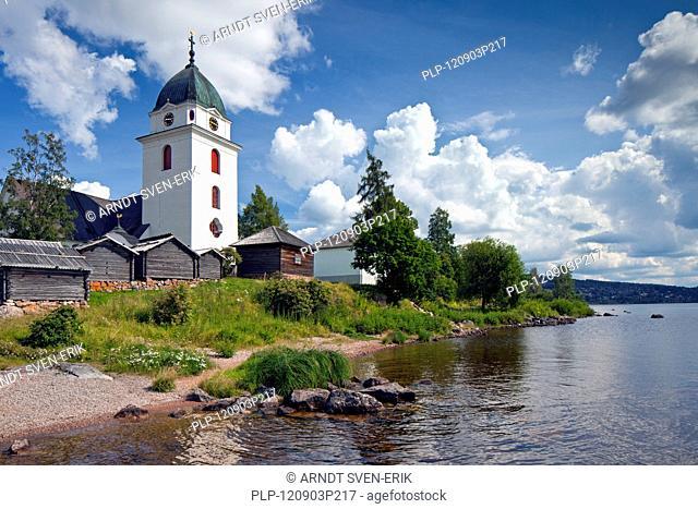 Rättvik Church along Lake Siljan, Dalarna, Sweden