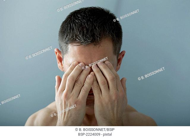 MAN WITH HEADACHE Model