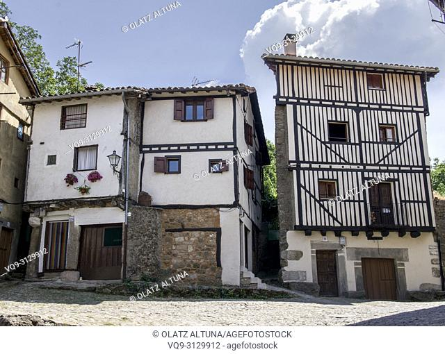 Rural village of La Alberca in Salamanca province, Castilla y Leon, Spain