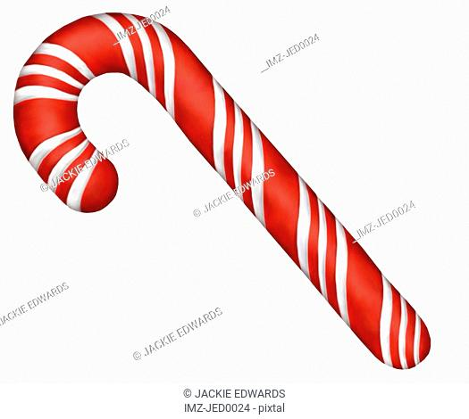 A peppermint candy cane for Christmas
