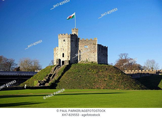 Norman Keep, Cardiff Castle, Cardiff, Wales, UK