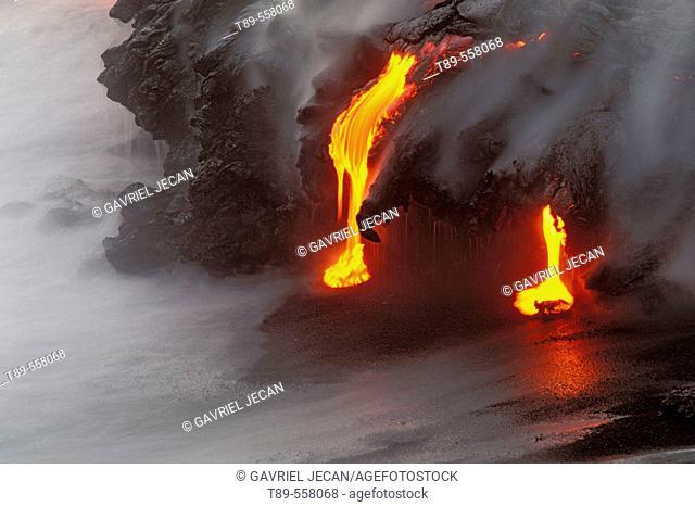 USA. Hawaii, Volcano National Park, Lava Flow