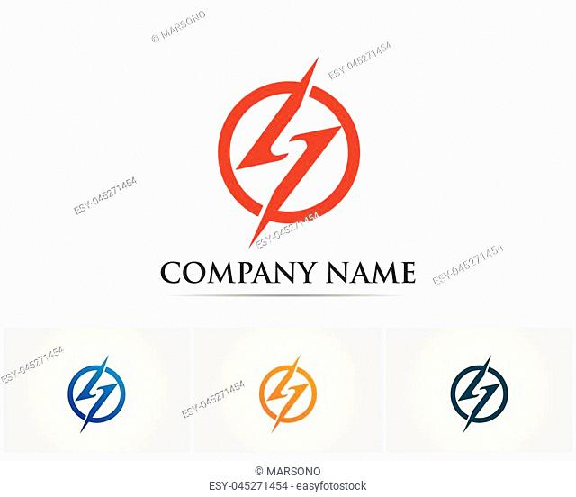 lightning icon logo and symbolsvector
