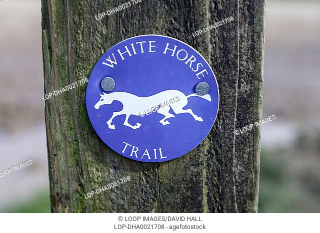 Sign for White Horse Trail