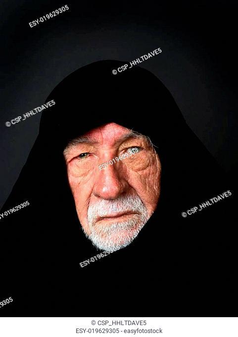 Elder Arab Sheik with a somber expression