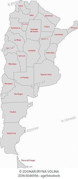 Grey Argentina map