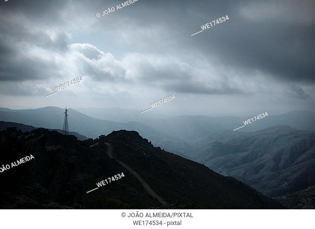One pf the highest point of Arada Mountains, a mountain range in Viseu district,between the Vouga and Douro basins. Portugal