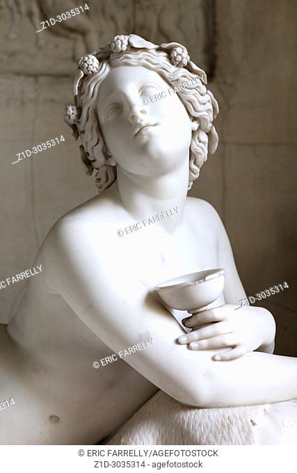 Reclining Bacchante, Luigi Bienaimé, Interior artworks,decor and architecture. The hermitage St Petersburg Russia Interior artworks