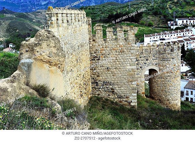 The Walls of the Alcazaba. Antequera, Málaga province, Spain