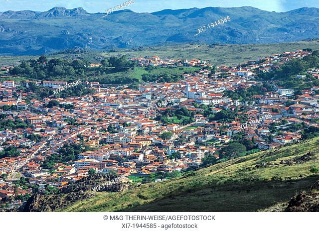 View over Diamantina, Minas Gerais, Brazil