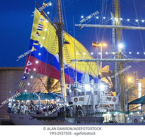 Las Palmas, Gran Canaria, Canary Islands, Spain. 9th September, 2017. Tall ship ARC Gloria, Colombian navy training ship