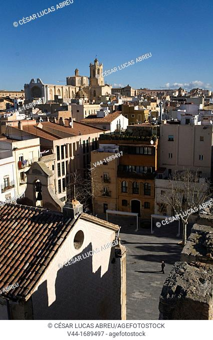 Tarragona downtown overview. Costa Daurada, Catalonia, Spain