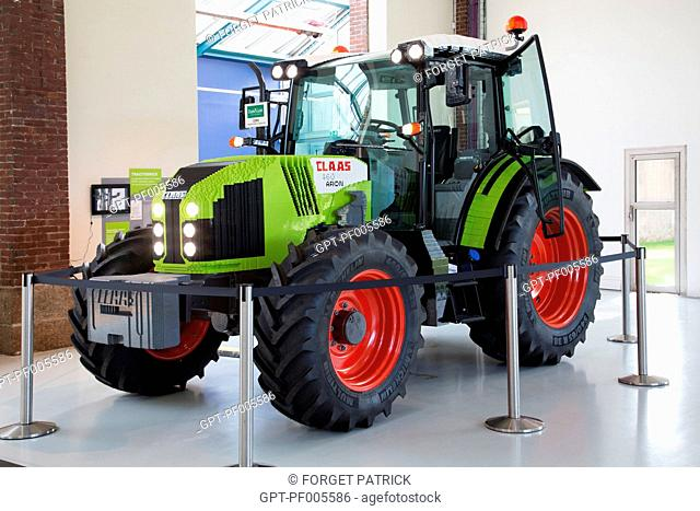 LIFE-SIZE TRACTOR MADE OF LEGO, MUSEUM OF THE COMPA, AGRICULTURAL CONSERVATORY, CHARTRES (28), FRANCE