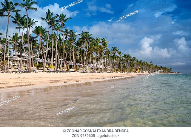 Caribbean Beach at sunrise in the Dominican Republic