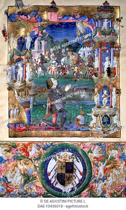 Galeazzo Maria Sforza (Fermo, 1444-London, 1476), Duke of Milan, miniature, 15th century.  London, Wallace Collection