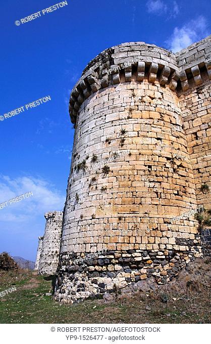 The crusader castle Krak Des Chevaliers, Syria