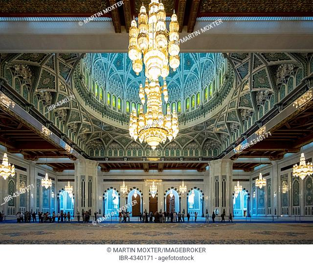 Sultan Qaboos Grand Mosque, interior, Muscat, Oman