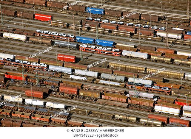 Aerial photo, freight yard, Brockhausen, Hagen, North Rhine-Westphalia, Germany, Europe