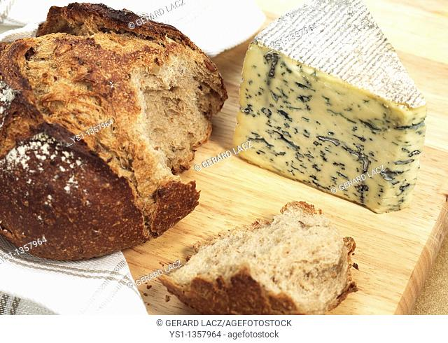BRED WITH BLEU DES CAUSSES, A FRENCH CHEESE MADE WITH COW'S MILK