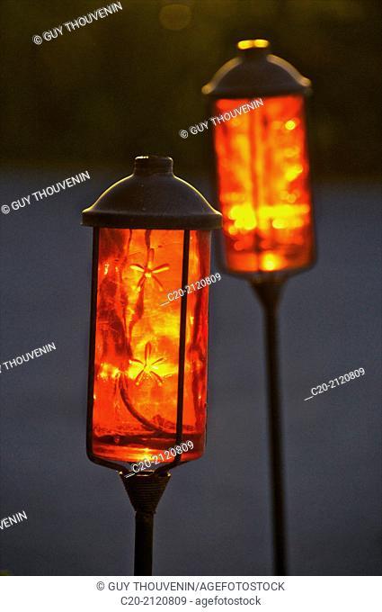 Red lanterns,Rhodes City,Rhodes island, Greece
