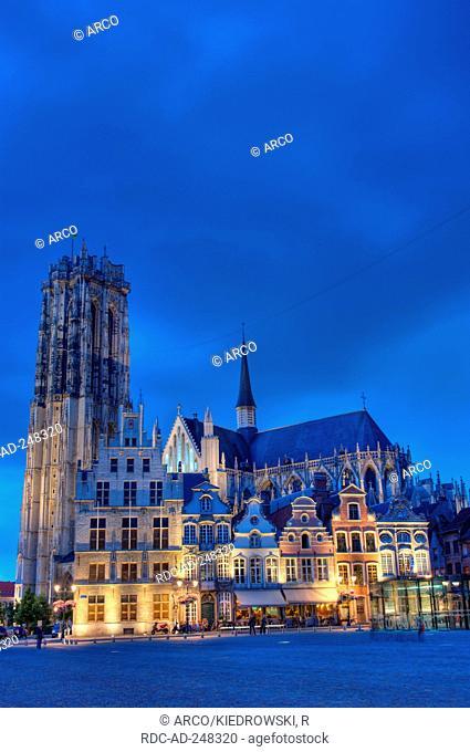 St. Rombouts Cathedral Grote Markt Mechelen Belgium