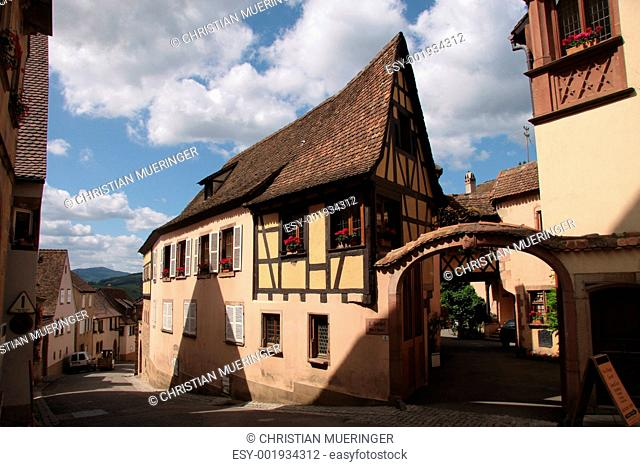 Village with half-timbered houses