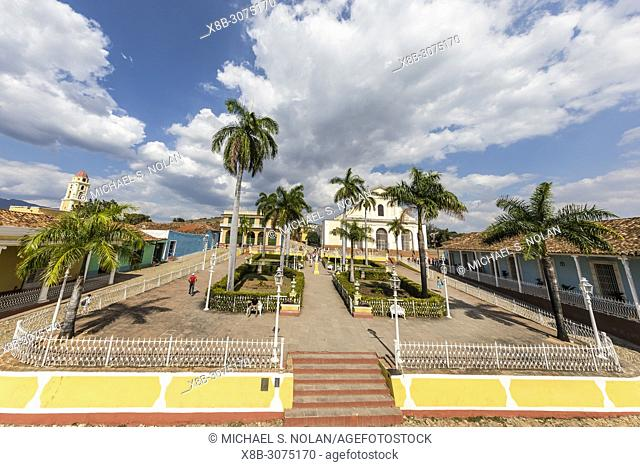 A view of the Plaza Mayor in the UNESCO World Heritage site city of Trinidad, Cuba