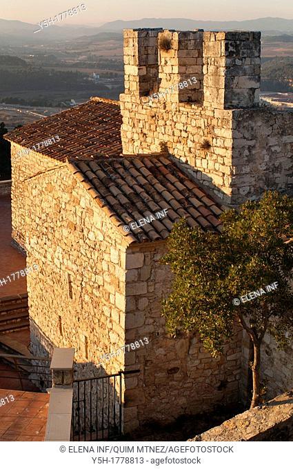 Subirats Castle hermitage, Barcelona province, Catalonia, Spain