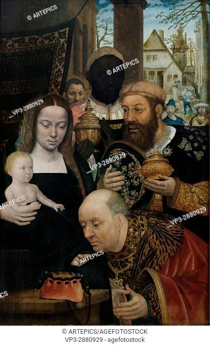 Flemish School - The Adoration of the Magi - 1520 - XVI th Century -Gemäldegalerie - Berlin