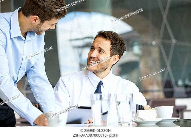 Businessmen collaborating