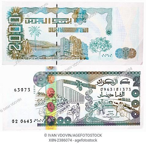 2000 dinars banknote, Algeria, 2011