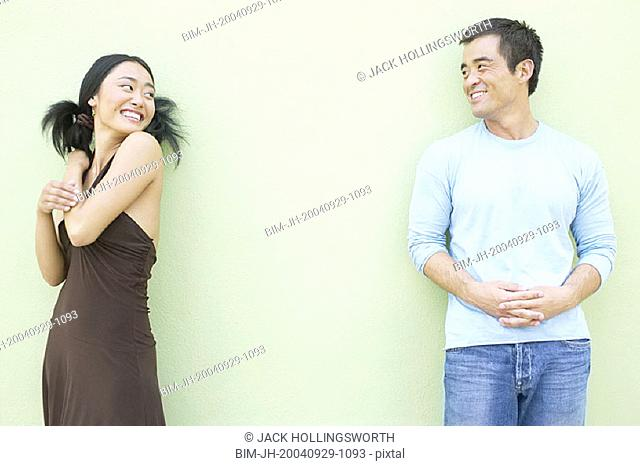 Playful couple smiling